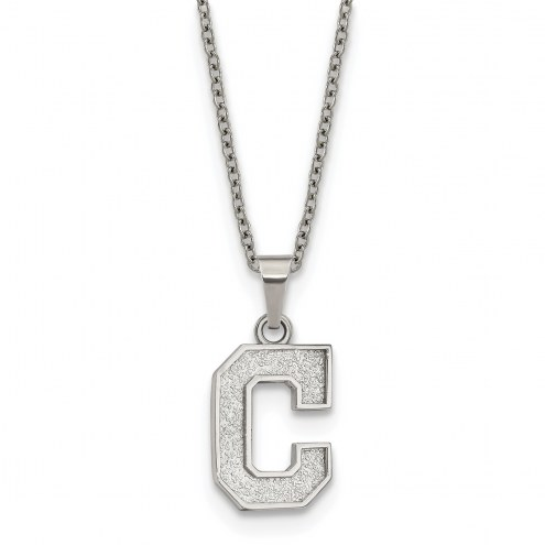 Cleveland Indians Stainless Steel Pendant Necklace