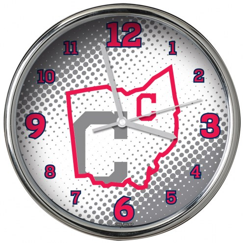 Cleveland Indians State of Mind Chrome Clock