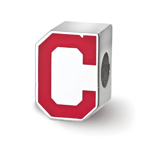 Cleveland Indians Sterling Silver Enameled Bead