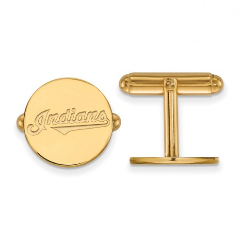 Cleveland Indians Sterling Silver Gold Plated Cuff Links