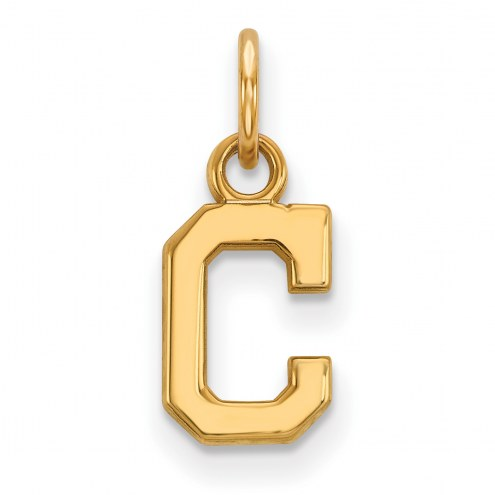 Cleveland Indians Sterling Silver Gold Plated Extra Small Pendant