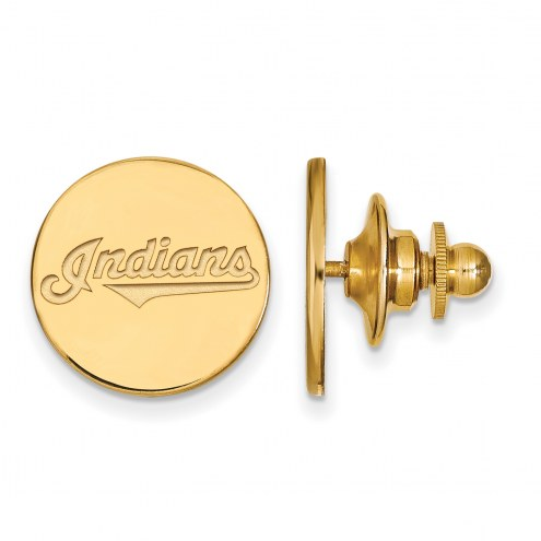 Cleveland Indians Sterling Silver Gold Plated Lapel Pin