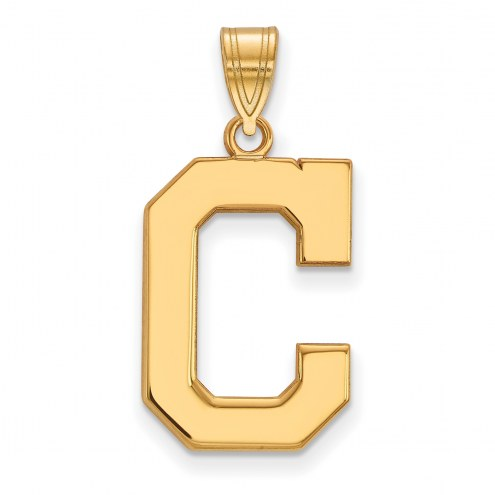 Cleveland Indians Sterling Silver Gold Plated Large Pendant