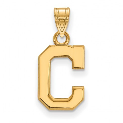 Cleveland Indians Sterling Silver Gold Plated Small Pendant