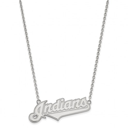 Cleveland Indians Sterling Silver Large Pendant Necklace