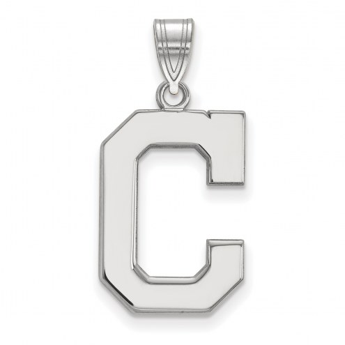 Cleveland Indians Sterling Silver Large Pendant
