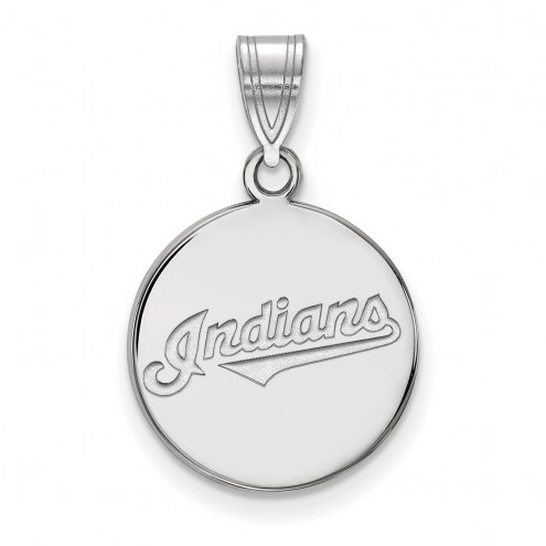 Cleveland Indians Sterling Silver Medium Disc Pendant