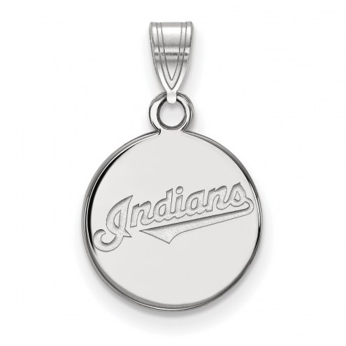 Cleveland Indians Sterling Silver Small Disc Pendant