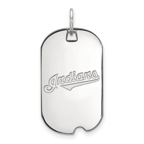 Cleveland Indians Sterling Silver Small Dog Tag