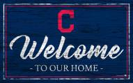 Cleveland Indians Team Color Welcome Sign