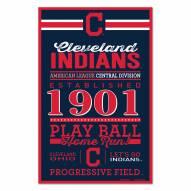 Cleveland Indians Established Wood Sign