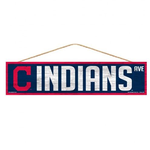 Cleveland Indians Wood Avenue Sign