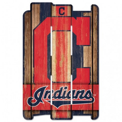 Cleveland Indians Wood Fence Sign
