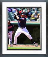 Cleveland Indians Yan Gomes Action Framed Photo