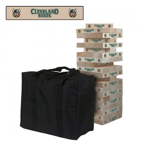 Cleveland State Vikings Giant Wooden Tumble Tower Game