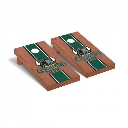 Cleveland State Vikings Rosewood Stained Stripe Cornhole Game Set