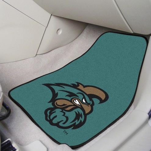 Coastal Carolina Chanticleers 2-Piece Carpet Car Mats