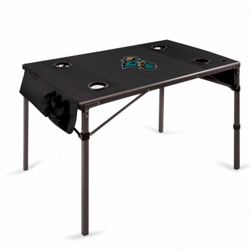 Coastal Carolina Chanticleers Black Travel Table