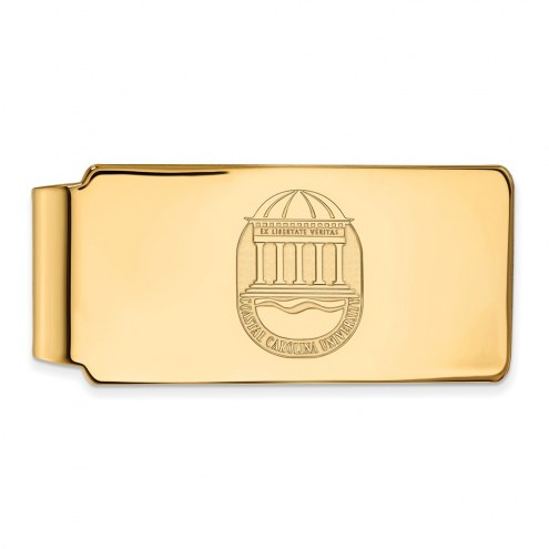 Coastal Carolina Chanticleers Sterling Silver Gold Plated Crest Money Clip