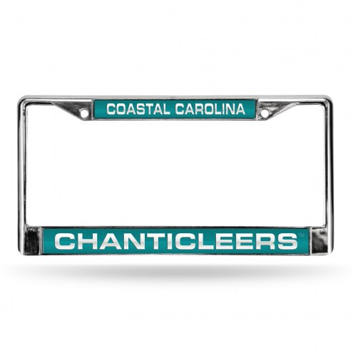 Coastal Carolina Chanticleers Laser Chrome License Plate Frame