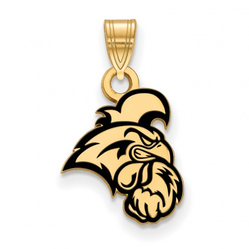 Coastal Carolina Chanticleers Sterling Silver Gold Plated Small Pendant