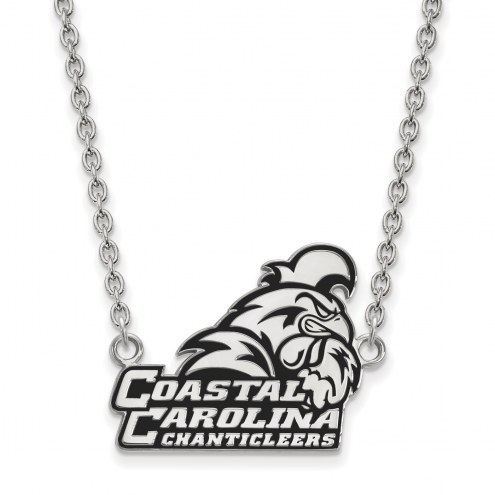 Coastal Carolina Chanticleers Sterling Silver Large Pendant Necklace