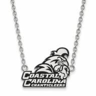 Coastal Carolina Chanticleers Sterling Silver Large Pendant Necklace