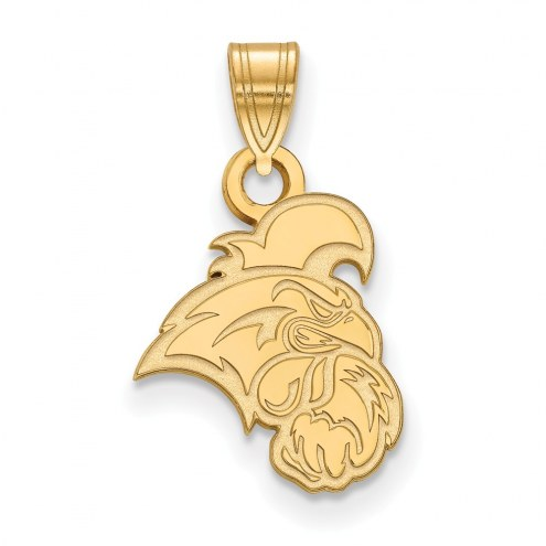 Coastal Carolina Chanticleers NCAA Sterling Silver Gold Plated Small Pendant