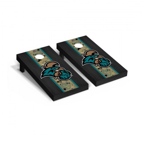 Coastal Carolina Chanticleers Operation Hat Trick Onyx Stained Cornhole Game Set