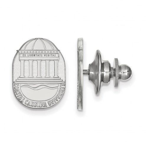 Coastal Carolina Chanticleers Sterling Silver Crest Lapel Pin