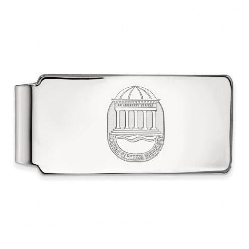 Coastal Carolina Chanticleers Sterling Silver Crest Money Clip