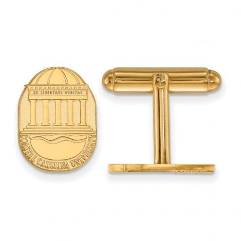 Coastal Carolina Chanticleers Sterling Silver Gold Plated Cuff Links