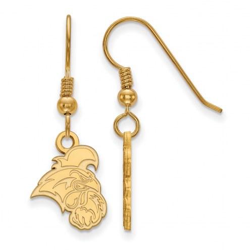 Coastal Carolina Chanticleers Sterling Silver Gold Plated Small Dangle Earrings
