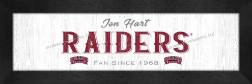 Colgate Raiders Stacked Team Personalized Framed Print