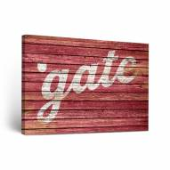 Colgate Raiders Weathered Canvas Wall Art