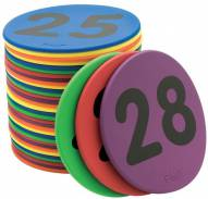 """Color My Class 5"""" Numbered Color Spots - Set of 36"""