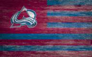 """Colorado Avalanche 11"""" x 19"""" Distressed Flag Sign"""