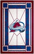 """Colorado Avalanche 11"""" x 19"""" Stained Glass Sign"""