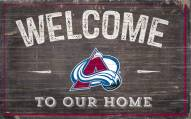 """Colorado Avalanche 11"""" x 19"""" Welcome to Our Home Sign"""