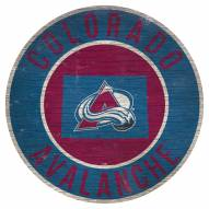 """Colorado Avalanche 12"""" Circle with State Sign"""