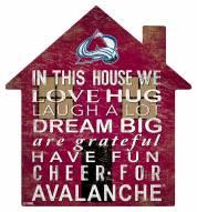 """Colorado Avalanche 12"""" House Sign"""