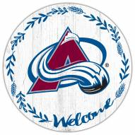"""Colorado Avalanche 12"""" Welcome Circle Sign"""