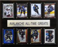 "Colorado Avalanche 12"" x 15"" All-Time Greats Plaque"