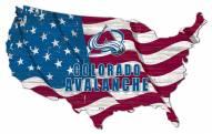 """Colorado Avalanche 15"""" USA Flag Cutout Sign"""