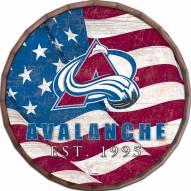 """Colorado Avalanche 16"""" Flag Barrel Top"""