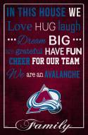 """Colorado Avalanche 17"""" x 26"""" In This House Sign"""