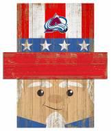 """Colorado Avalanche 19"""" x 16"""" Patriotic Head"""