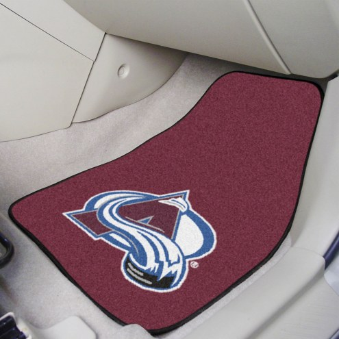 Colorado Avalanche 2-Piece Carpet Car Mats
