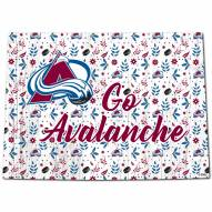 """Colorado Avalanche 24"""" Floral State Sign"""