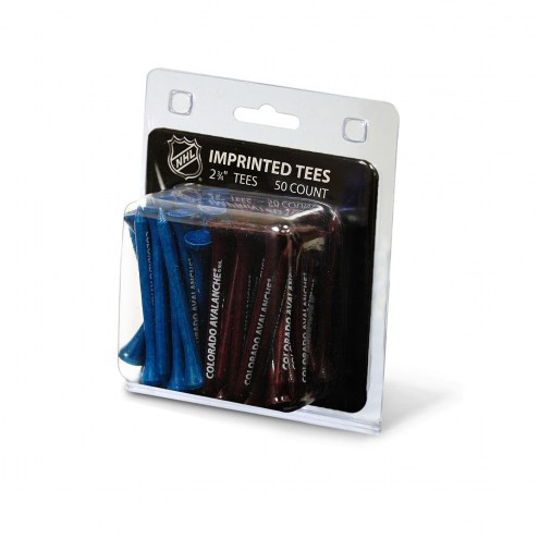 Colorado Avalanche 50 Golf Tee Pack